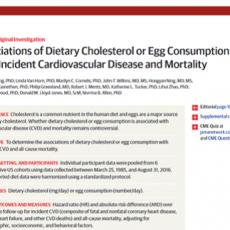 Consumo de Colesterol y Huevo en la Incidencia de Eventos Cardiovasculares